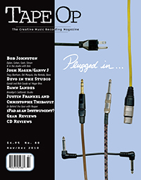 Tape Op Magazine: Issue 80 Nov/Dec 2010